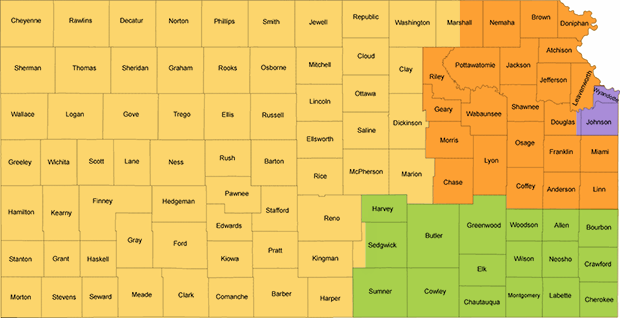 Kansas Redistricting Map - KC / NE / SE / W