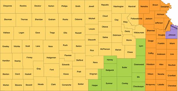 Kansas Redistricting Map - Low Impact