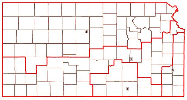 Kansas Redistricting Map - Proposal Two